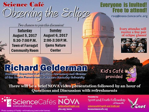 August Science Cafe Flyer
